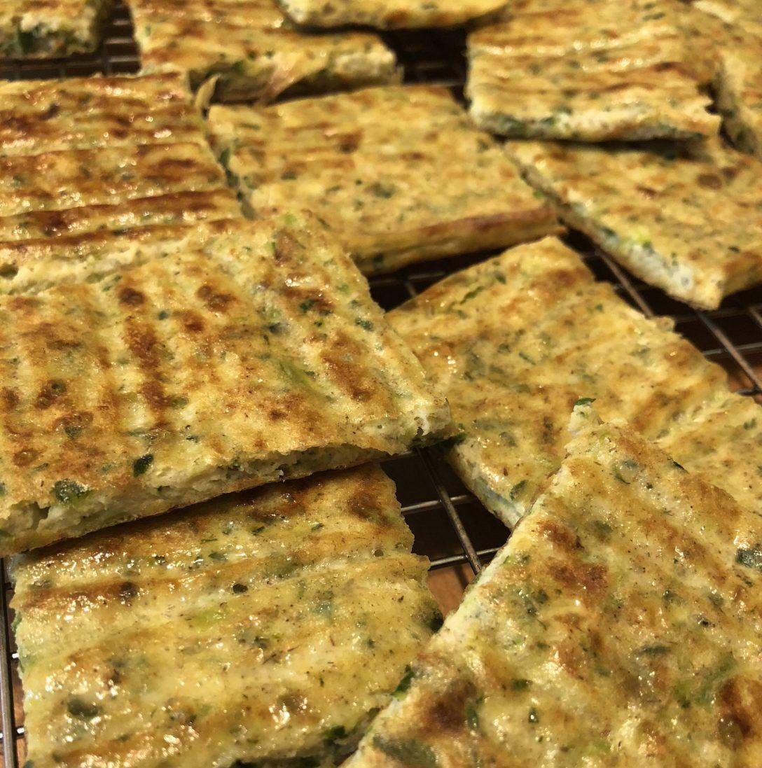 Paleo Zucchini Flatbread Crust